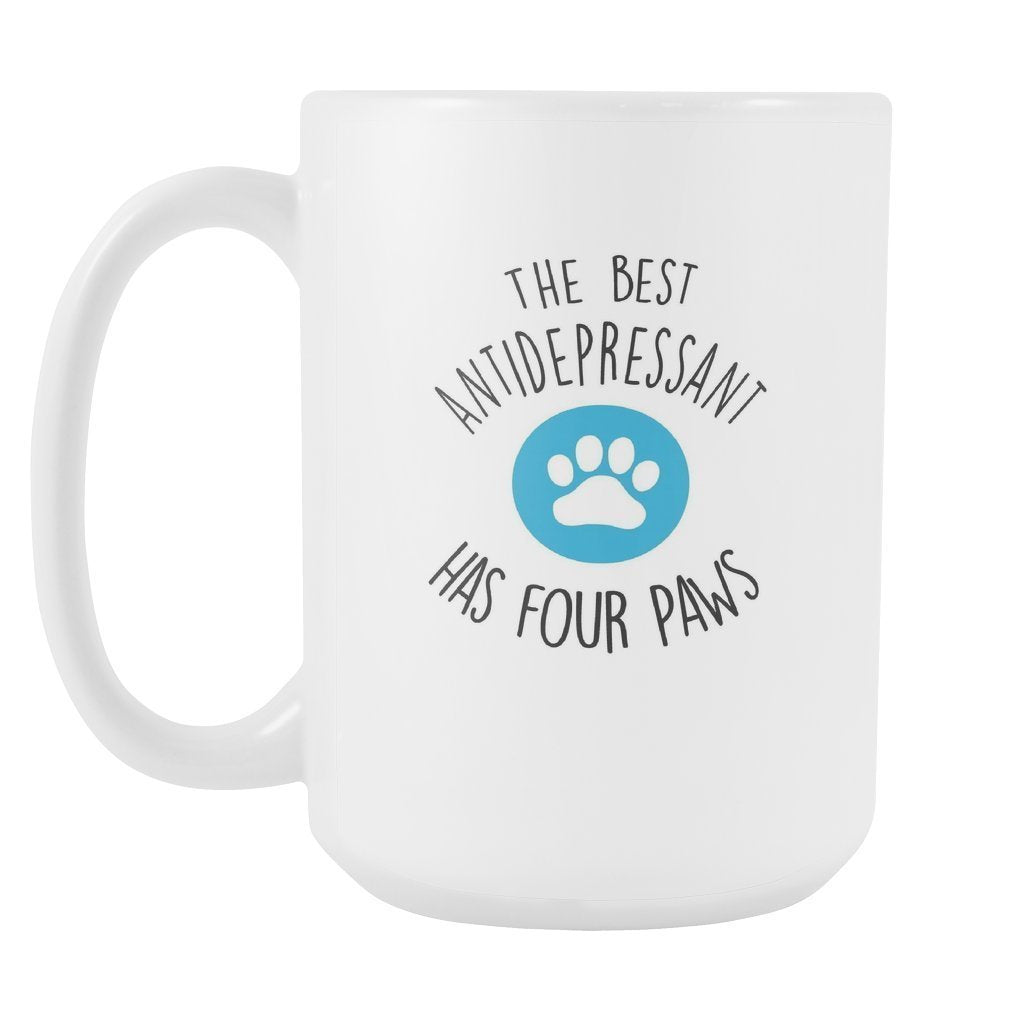 Pets - The best antidepressants has four paws White Mug 15oz-Drinkware-I love Veterinary
