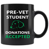 Pre- Vet Student 11oz Black Mug-Drinkware-I love Veterinary