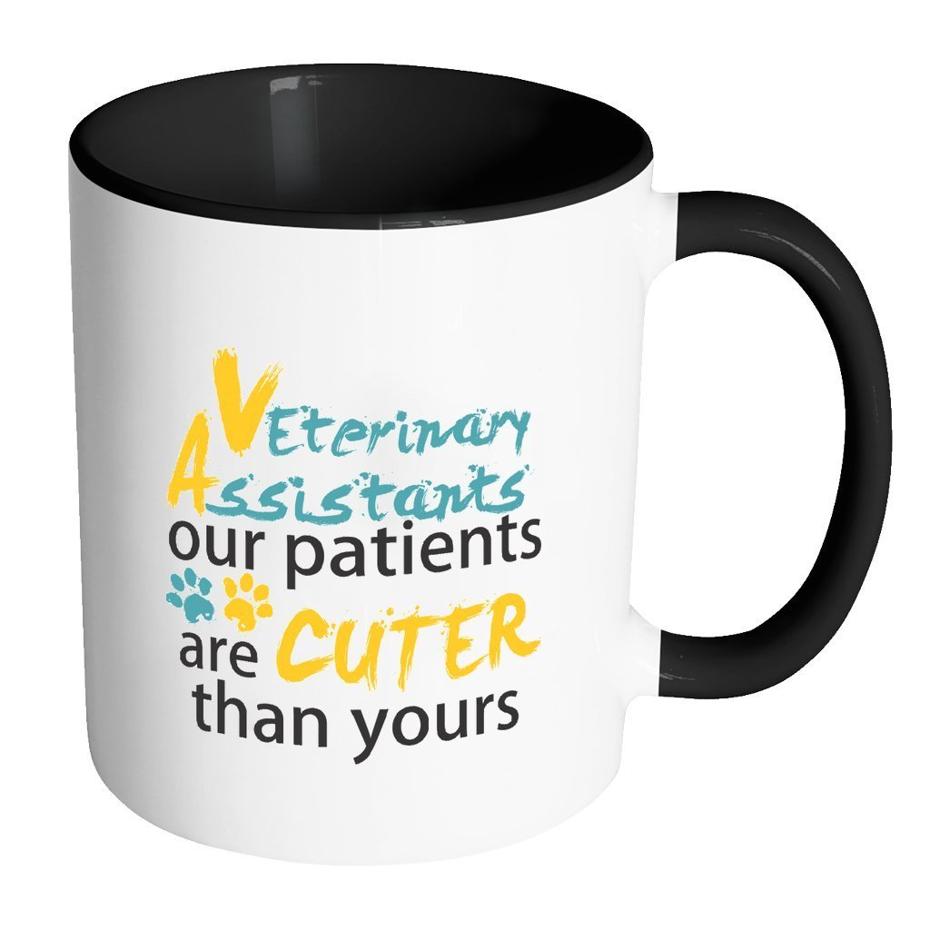 Vet Assistant Inner Color Mug 11oz - Our patients are cuter than yours-Drinkware-I love Veterinary