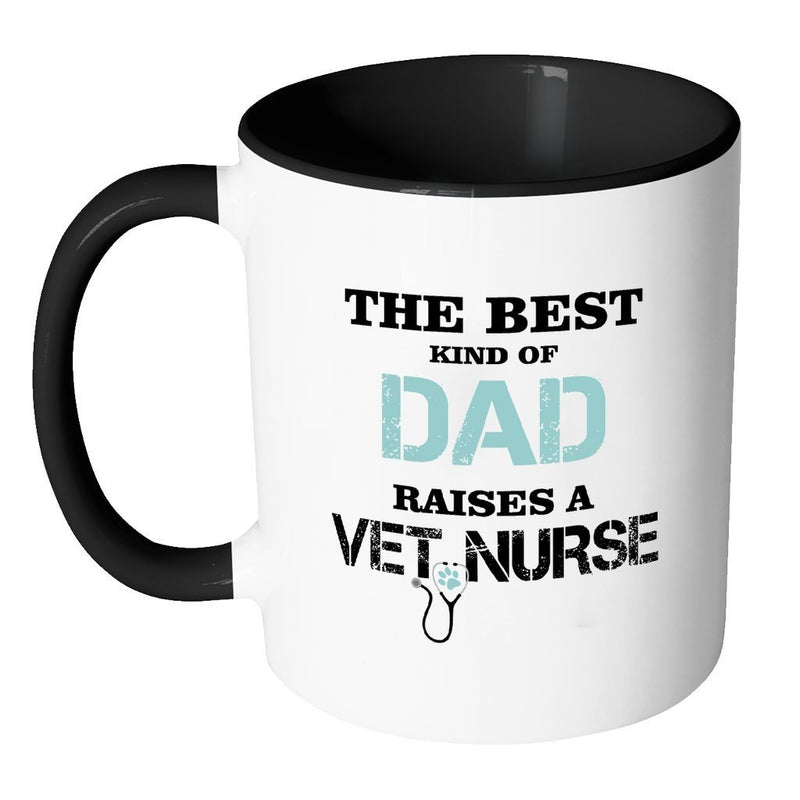 Vet Nurse Inner Color Mug 11oz - The best kind of Dad raises a Vet Nurse-Drinkware-I love Veterinary