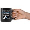 Vet Nurse - My Grandma is an Awesome 11oz Black Mug-Drinkware-I love Veterinary
