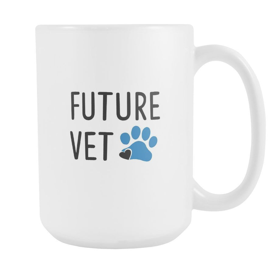 Vet Student - Future Vet White Mug 15oz-Drinkware-I love Veterinary