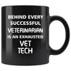 Vet Tech - Exhausted Vet Tech 11oz Black Mug-Drinkware-I love Veterinary