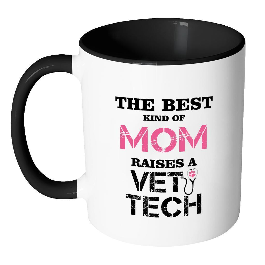 Vet Tech Inner Color Mug 11oz - The best kind of Mom raises a Vet Tech-Drinkware-I love Veterinary