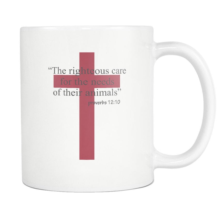 White 11oz mugs tagged vet tech i love veterinary vet tech the righteous care for the needs of their animals white mug biocorpaavc Gallery