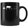Veterinarian - Cow pulse 11oz Black Mug-Drinkware-I love Veterinary