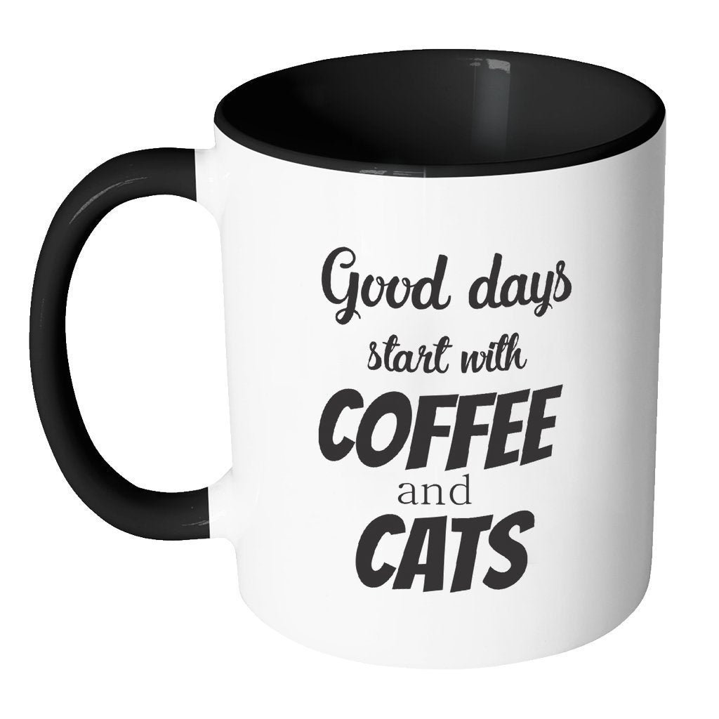 Veterinarian Inner Color Mug 11oz - Coffee and cats-Drinkware-I love Veterinary