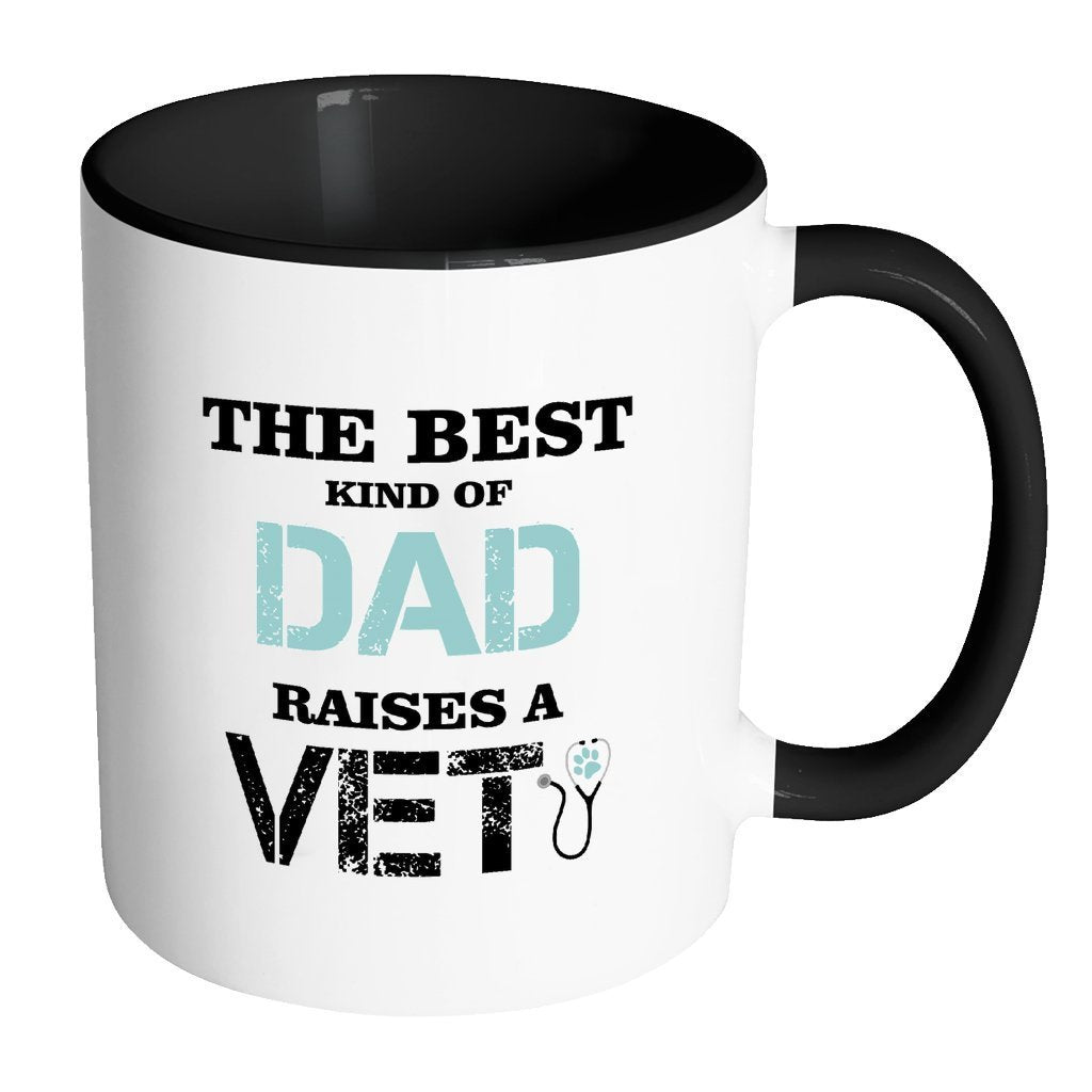 Veterinarian Inner Color Mug 11oz - The best kind of Dad raises a Vet-Drinkware-I love Veterinary