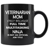 Veterinarian - Mom Ninja 11oz Black Mug-Drinkware-I love Veterinary