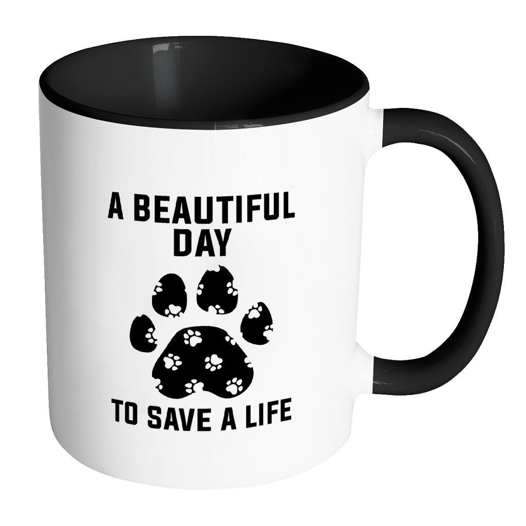 Veterinary Inner Color Mug 11oz - A beautiful day to save a life-Drinkware-I love Veterinary