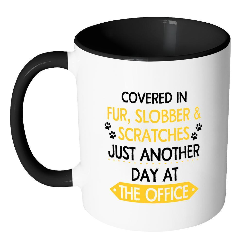 Veterinary Inner Color Mug 11oz - Fur, Slobber, Scratches-Drinkware-I love Veterinary