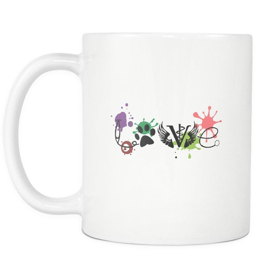 Veterinary - LOVE Veterinary Medicine White Mug 11oz-Drinkware-I love Veterinary