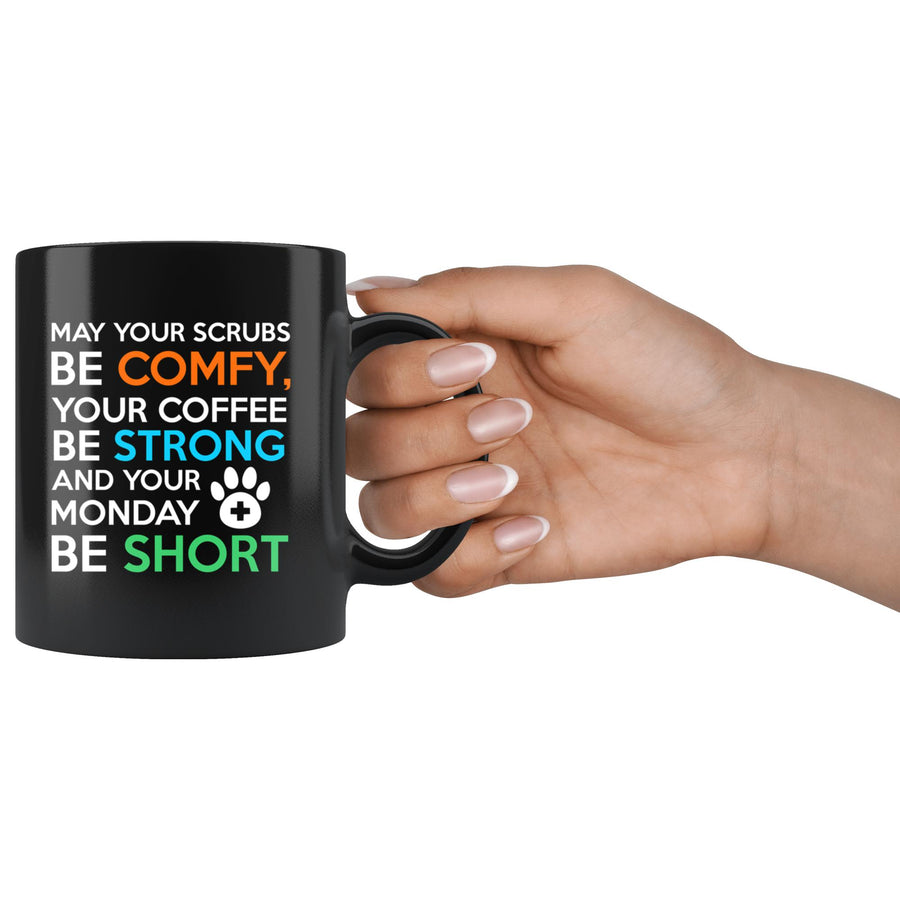 Veterinary - Veterinary Monday Prayer 11oz Black Mug-Drinkware-I love Veterinary