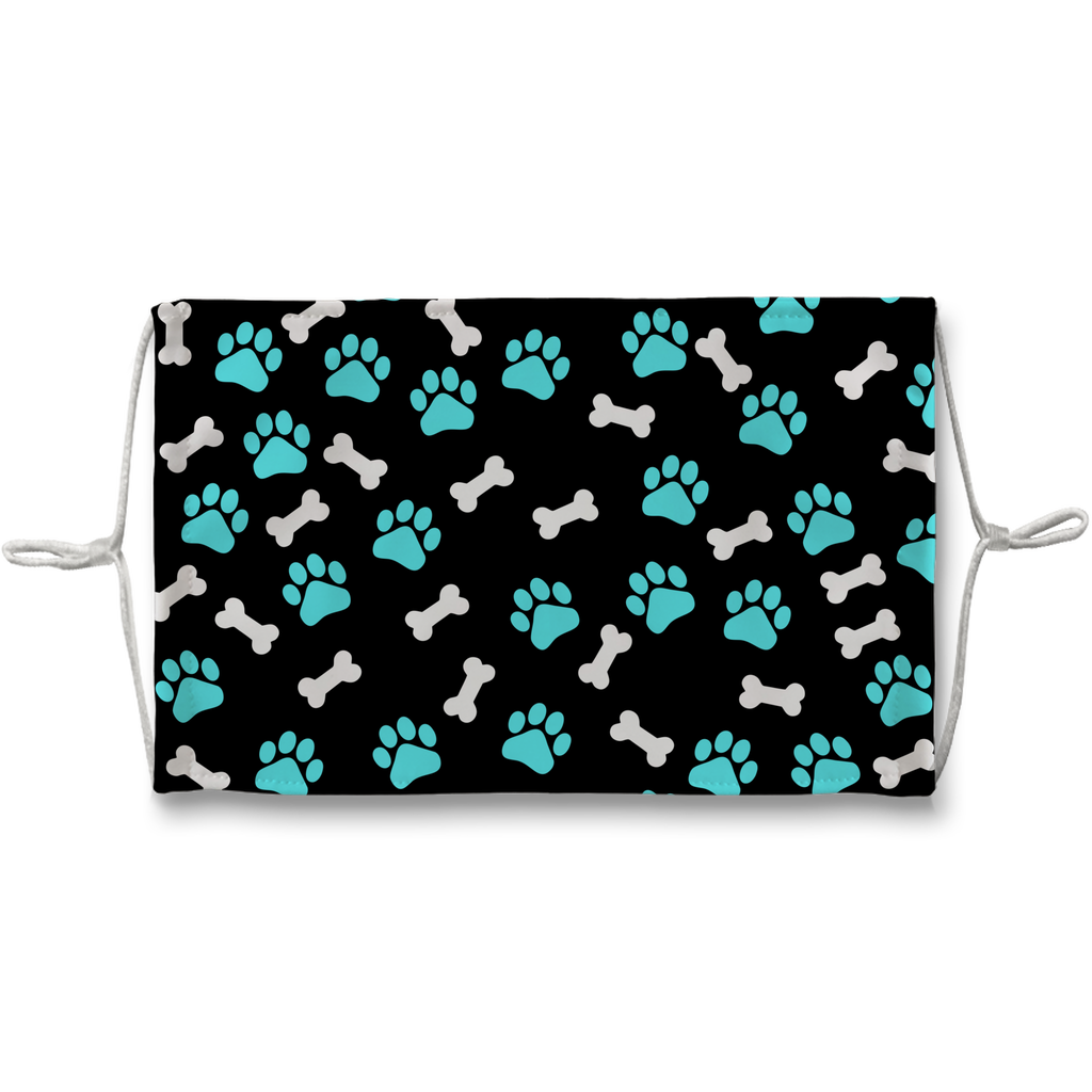 Paws and bones Sublimation Face Mask-Sublimation Face Mask-I love Veterinary