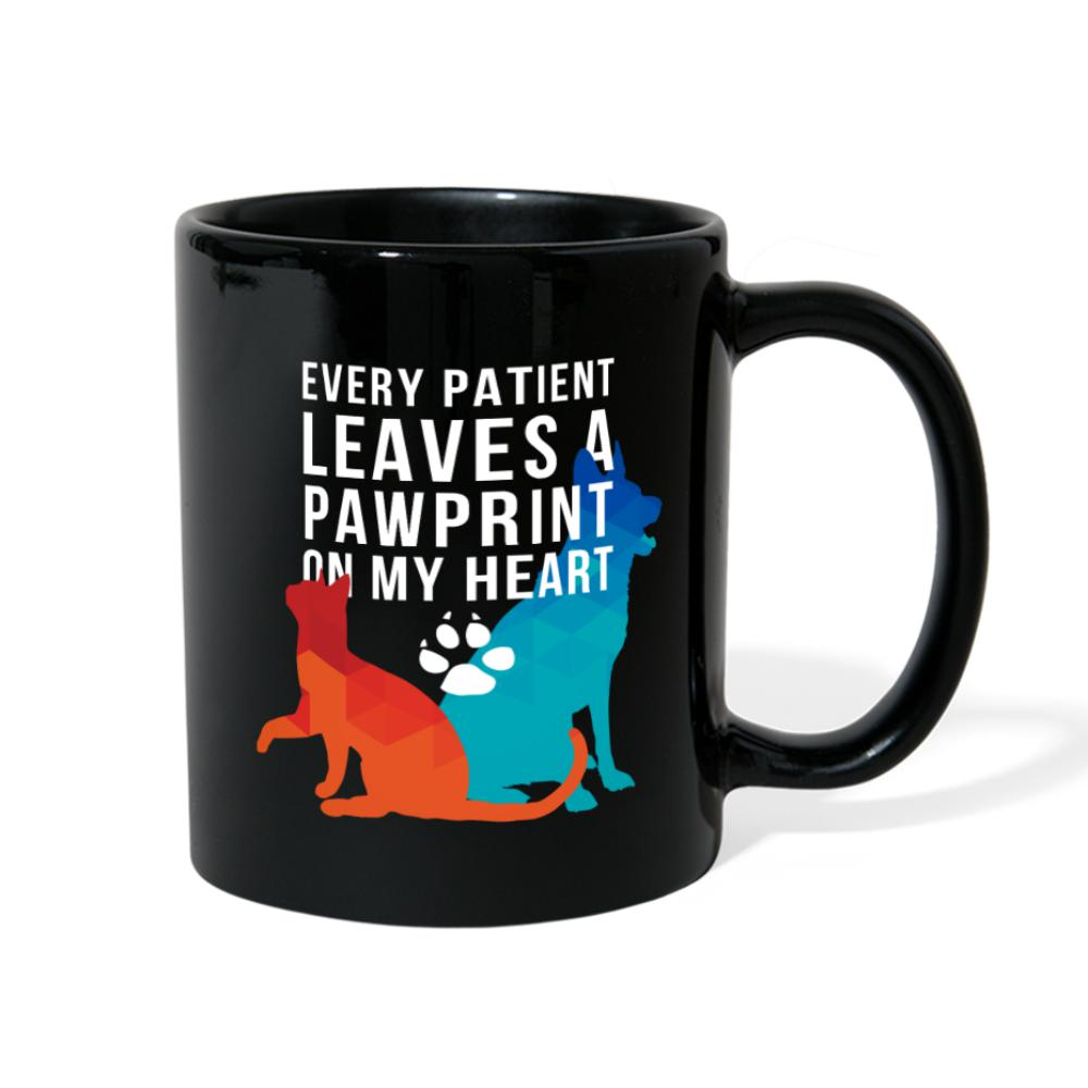 Every Patient Leaves a Pawprint on my Heart Full Color Mug-Full Color Mug-I love Veterinary