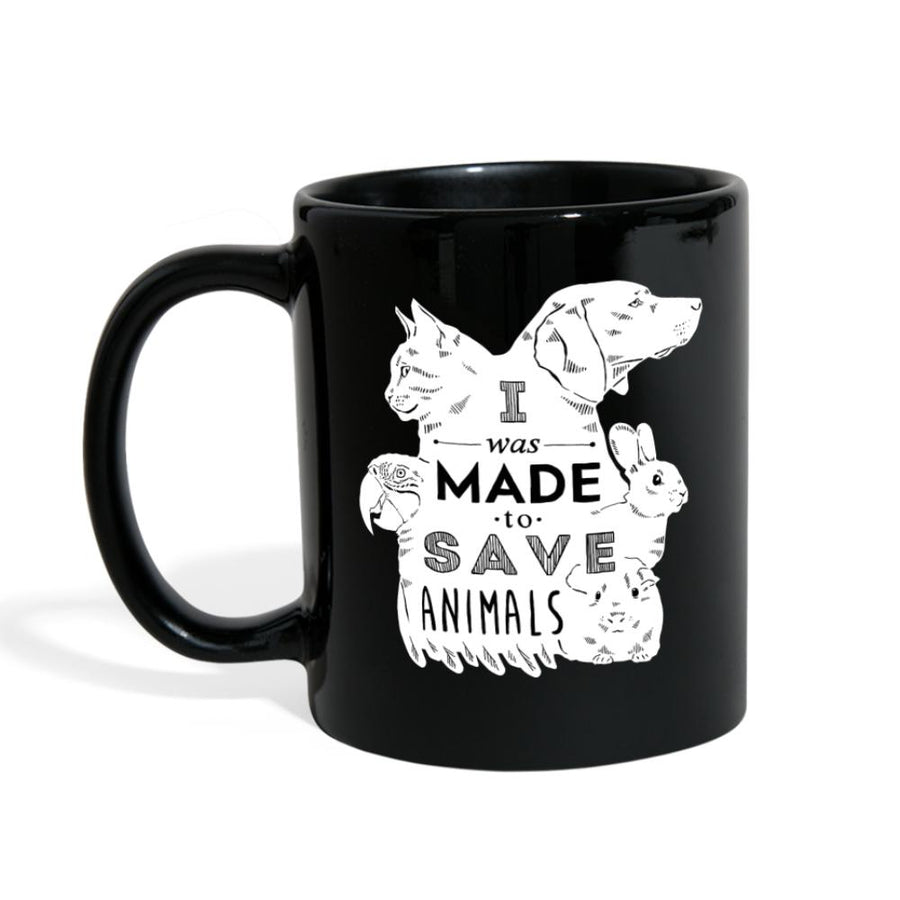 I was made to save animals Full Color Mug