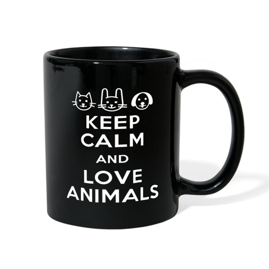 Keep Calm and Love Animals Full Color Mug
