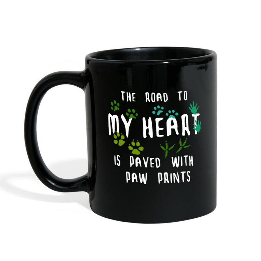 The Road to my heart is paved with paw prints Full Color Mug