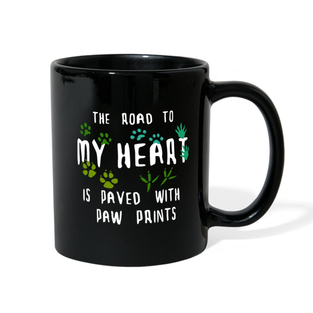 The Road to my heart is paved with paw prints Full Color Mug-Full Color Mug-I love Veterinary