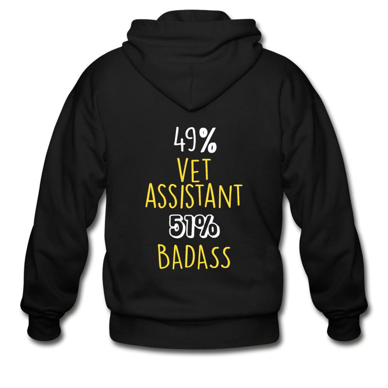 49% vet assistant 51% Badass Unisex Zip Hoodie-Gildan Heavy Blend Adult Zip Hoodie-I love Veterinary