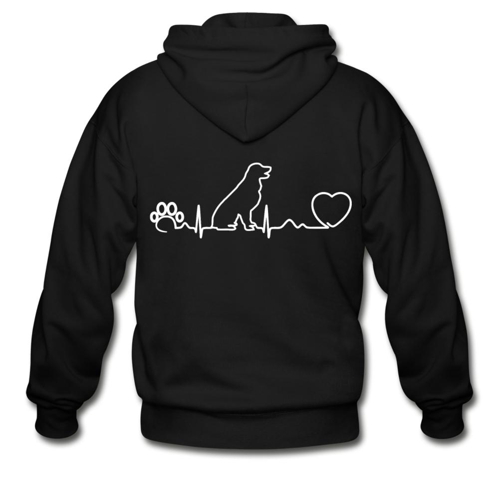 Dog heartbeat Unisex Zip Hoodie-Gildan Heavy Blend Adult Zip Hoodie-I love Veterinary