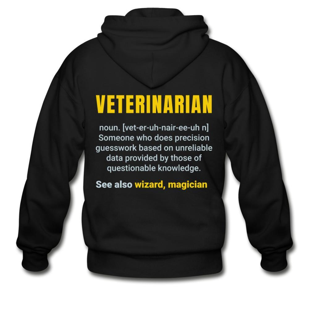 Veterinarian Definition Unisex Zip Hoodie-Gildan Heavy Blend Adult Zip Hoodie-I love Veterinary