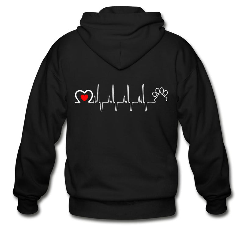 Veterinary - Animal Love Beat Unisex Zip Hoodie-Gildan Heavy Blend Adult Zip Hoodie-I love Veterinary