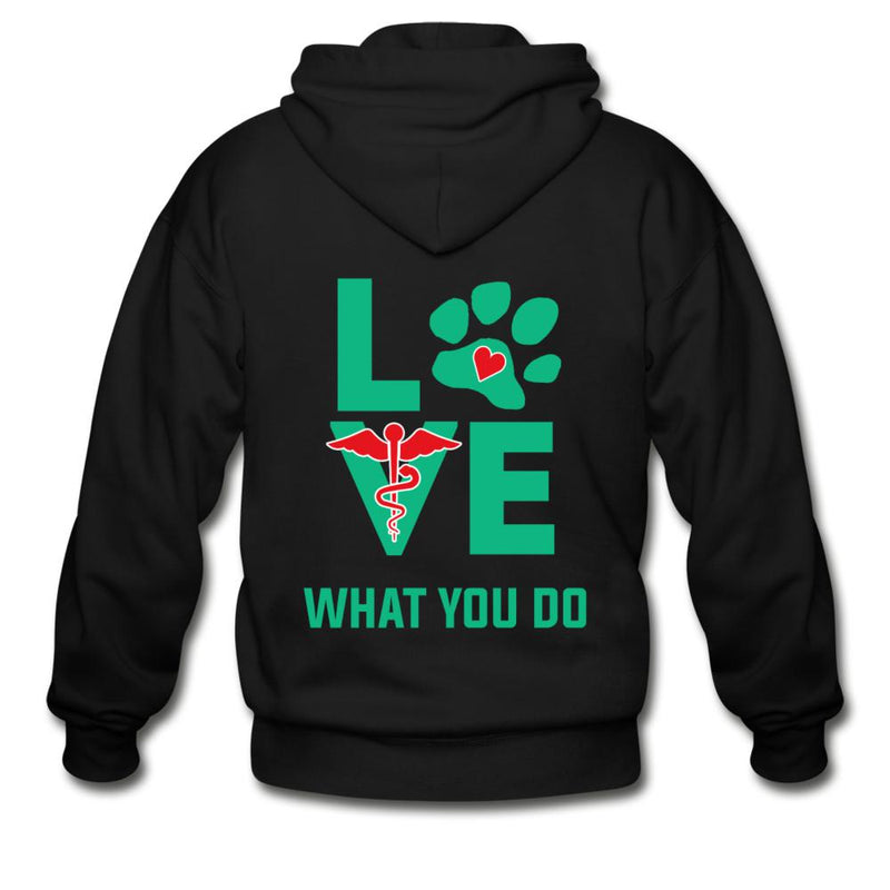 Veterinary - Love what you do Unisex Zip Hoodie-Gildan Heavy Blend Adult Zip Hoodie-I love Veterinary