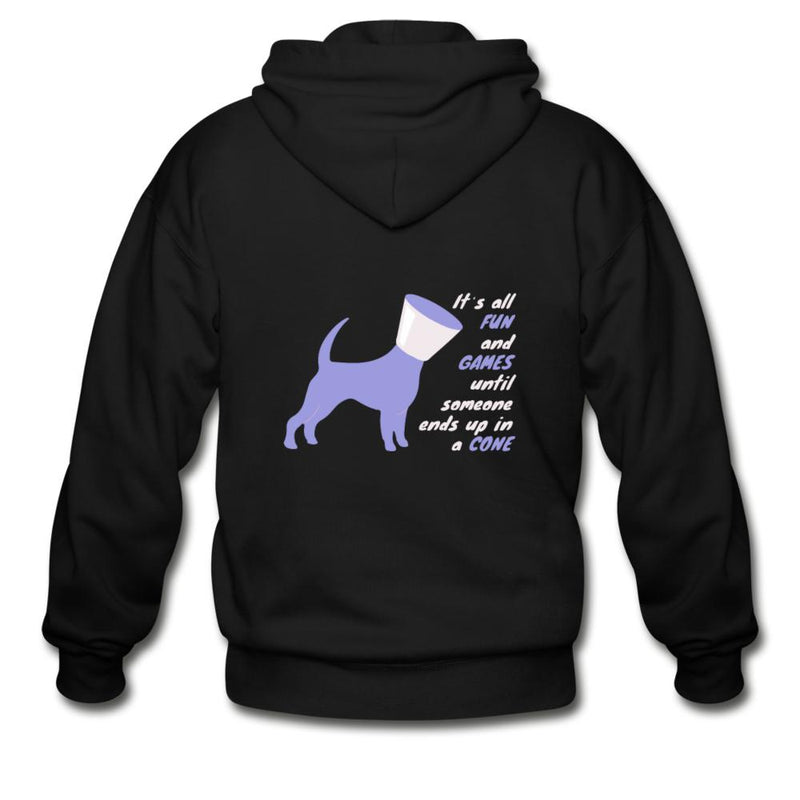 Veterinary - Until someone ends up in a cone Unisex Zip Hoodie-Gildan Heavy Blend Adult Zip Hoodie-I love Veterinary