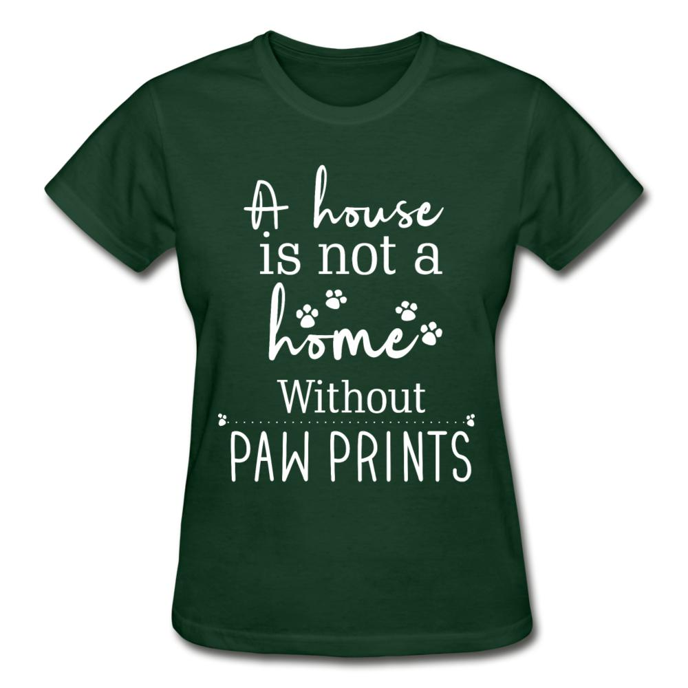 A house is not a home without Pawprints Gildan Ultra Cotton Ladies T-Shirt-Gildan Ultra Cotton Ladies T-Shirt-I love Veterinary