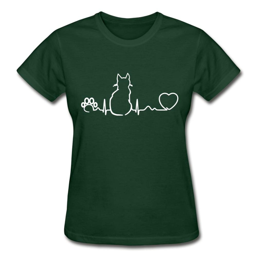 Cat Pulse Gildan Ultra Cotton Ladies T-Shirt-Gildan Ultra Cotton Ladies T-Shirt-I love Veterinary