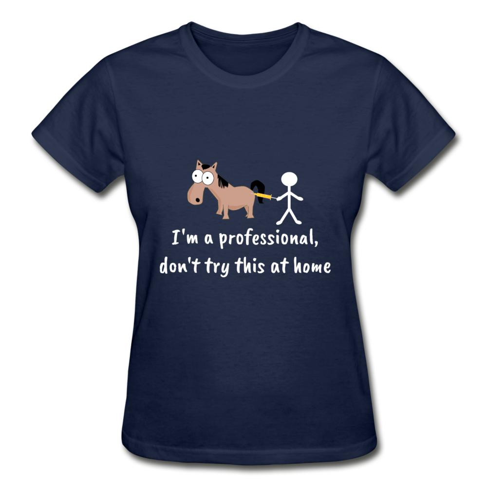 Don't try this at home Gildan Ultra Cotton Ladies T-Shirt-Gildan Ultra Cotton Ladies T-Shirt-I love Veterinary