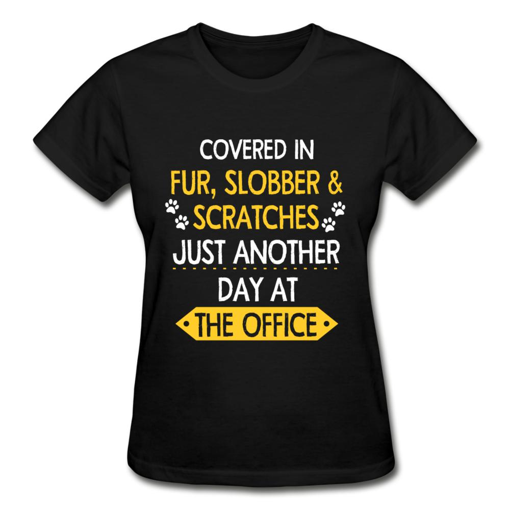 Fur, Slobber, Scratches Gildan Ultra Cotton Ladies T-Shirt-Gildan Ultra Cotton Ladies T-Shirt-I love Veterinary