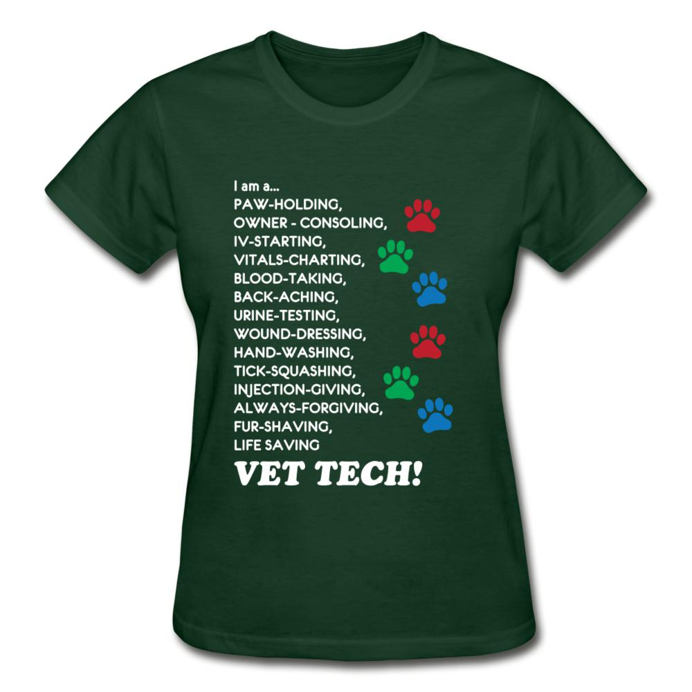 I am a... Vet tech Gildan Ultra Cotton Ladies T-Shirt-Gildan Ultra Cotton Ladies T-Shirt-I love Veterinary