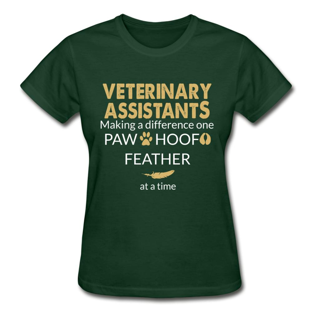 Vet Assistant- Making a Difference Gildan Ultra Cotton Ladies T-Shirt-Gildan Ultra Cotton Ladies T-Shirt-I love Veterinary