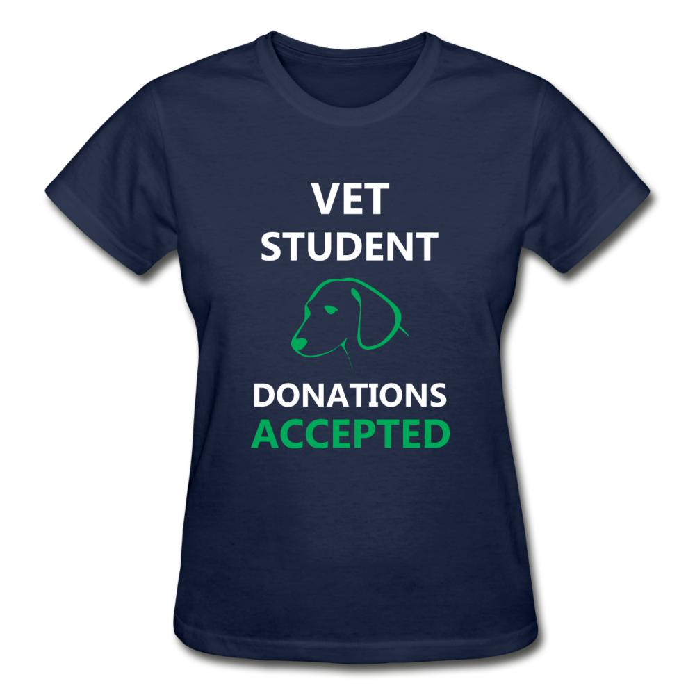 Vet Student Donations Accepted Gildan Ultra Cotton Ladies T-Shirt-Gildan Ultra Cotton Ladies T-Shirt-I love Veterinary