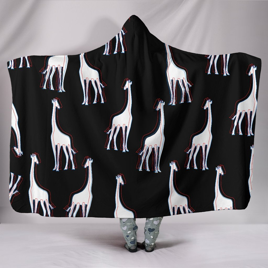 3D Giraffes Hooded Blanket-Hooded Blanket-I love Veterinary