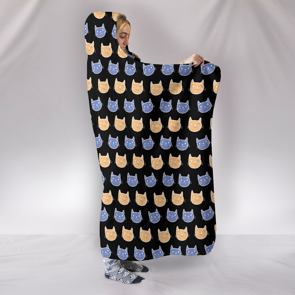 Cats Pattern Hooded Blanket-Hooded Blanket-I love Veterinary