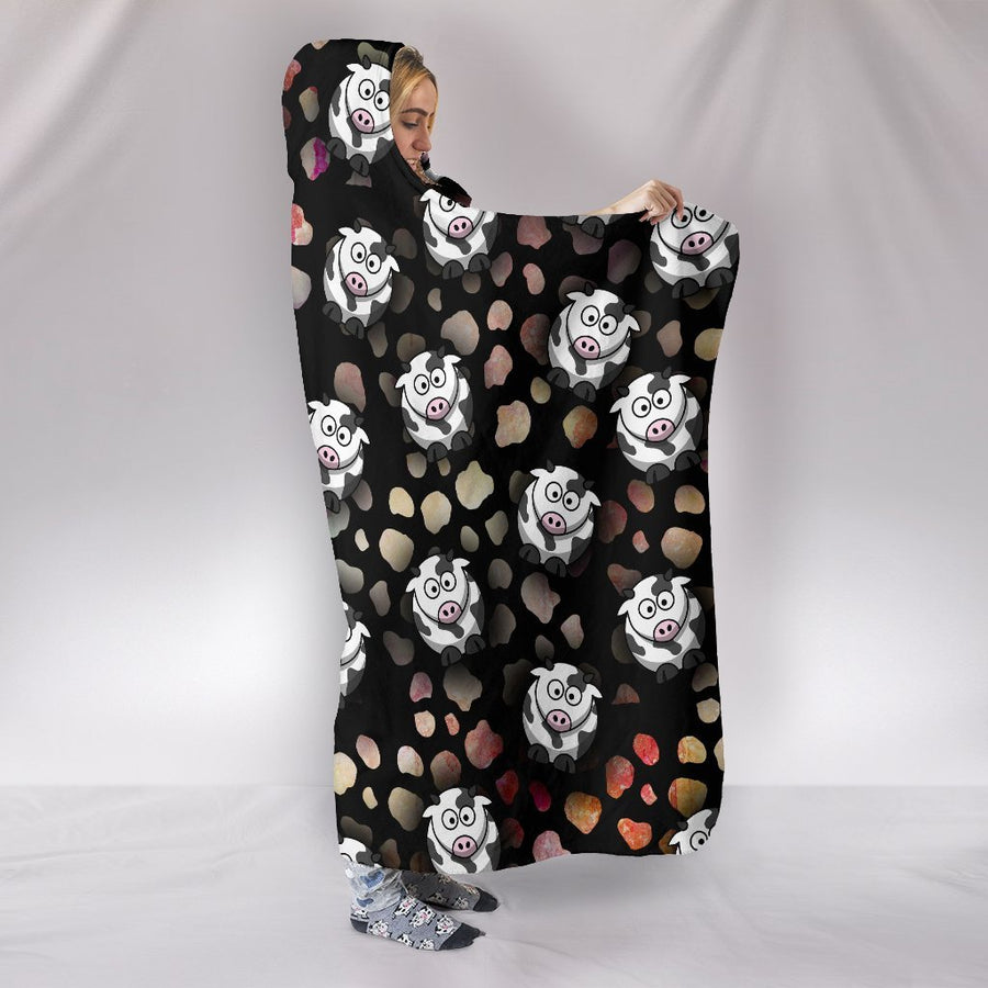 Crazy Cows Hooded Blanket