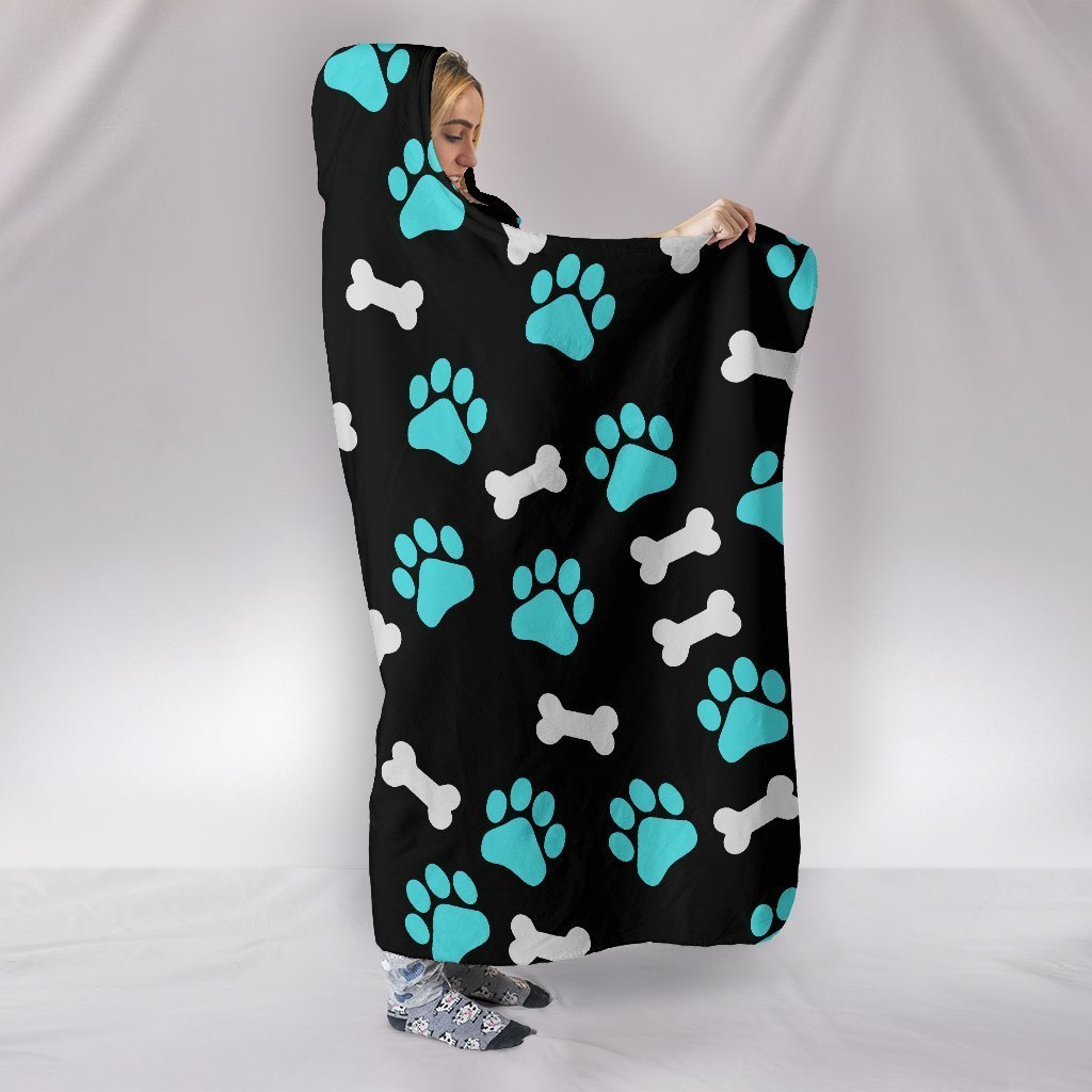 Paws and Bones - Hooded Blanket-Hooded Blanket-I love Veterinary