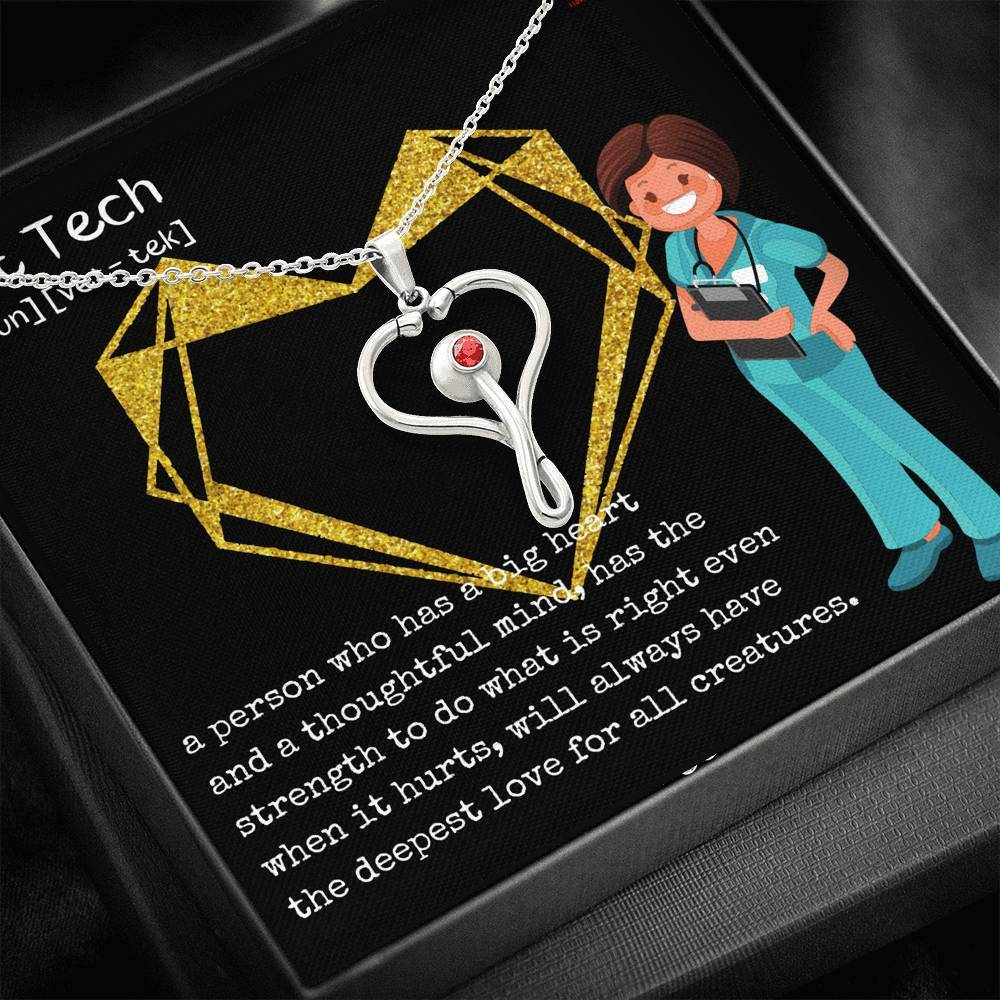 Vet Tech Definition Stethoscope Necklace-Jewelry-I love Veterinary