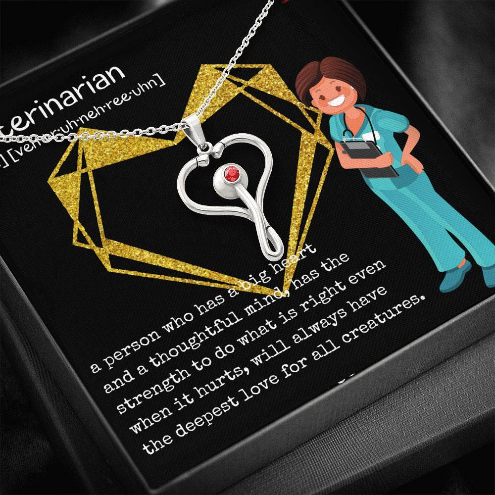 Veterinarian Definition Stethoscope Necklace-Jewelry-I love Veterinary