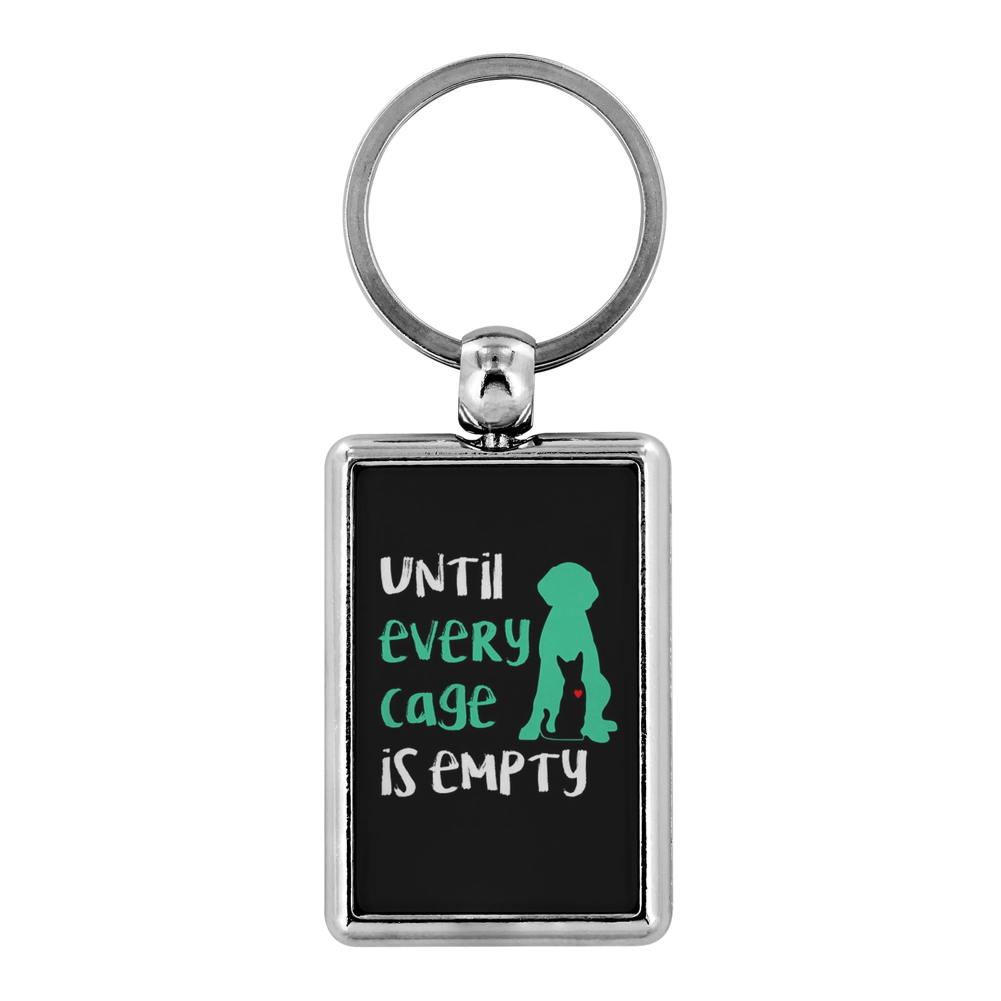 Animal Rescue- Until every cage is empty - Keychain-Keychain-I love Veterinary