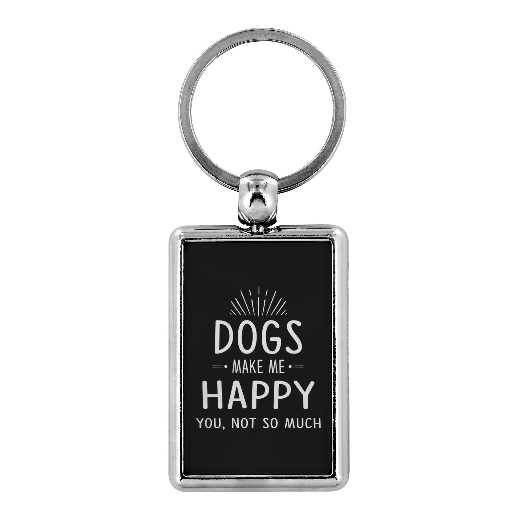 Dogs- Dog make me happy you, not so much - Keychain-Keychain-I love Veterinary