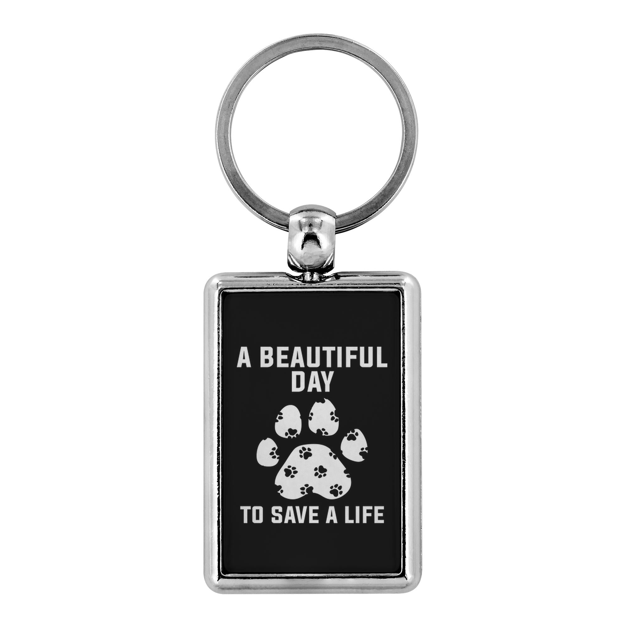 Veterinary- A beautiful day to save a life - Keychain-Keychain-I love Veterinary