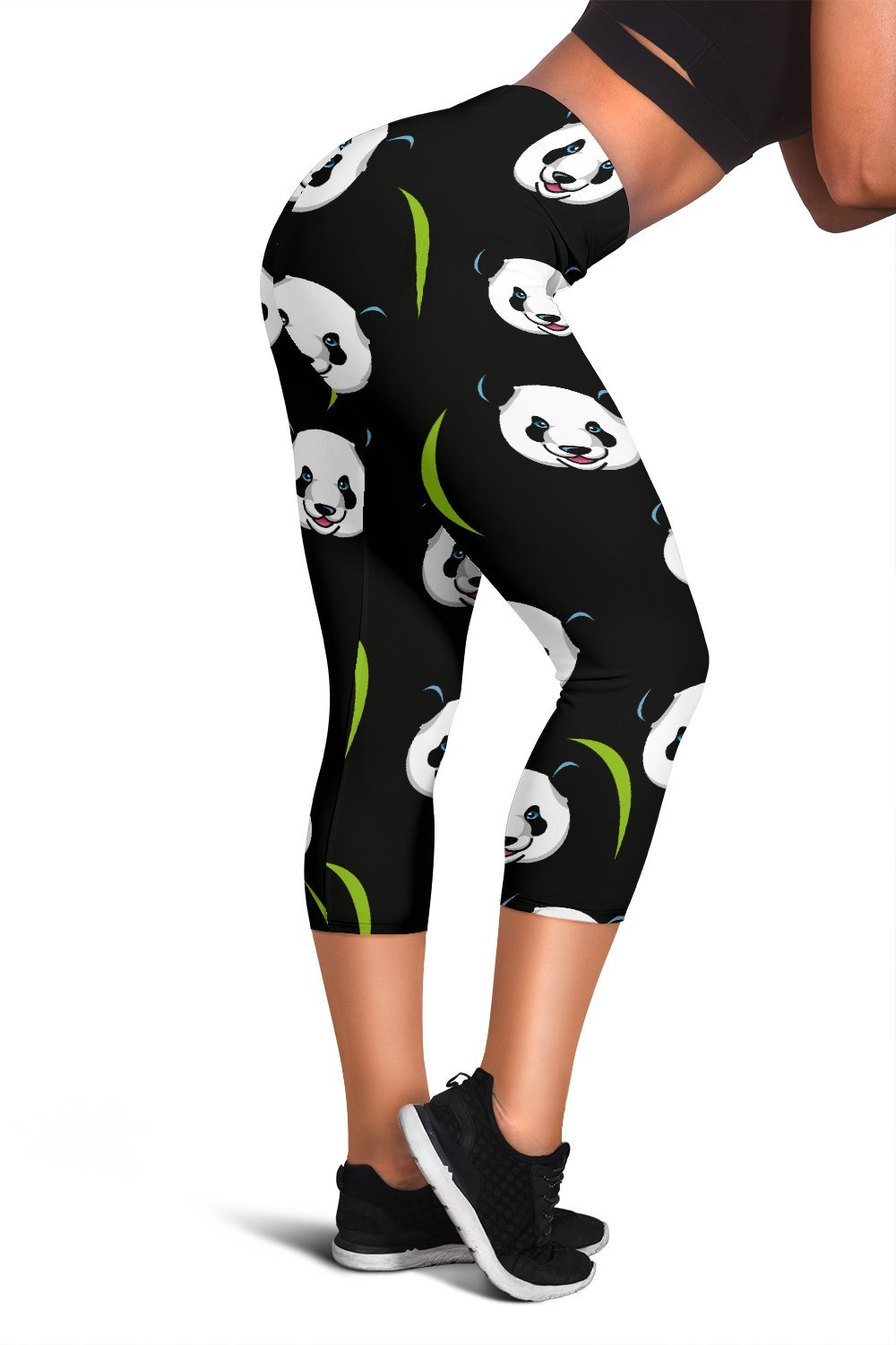 Panda Capri Leggings-Leggings-I love Veterinary