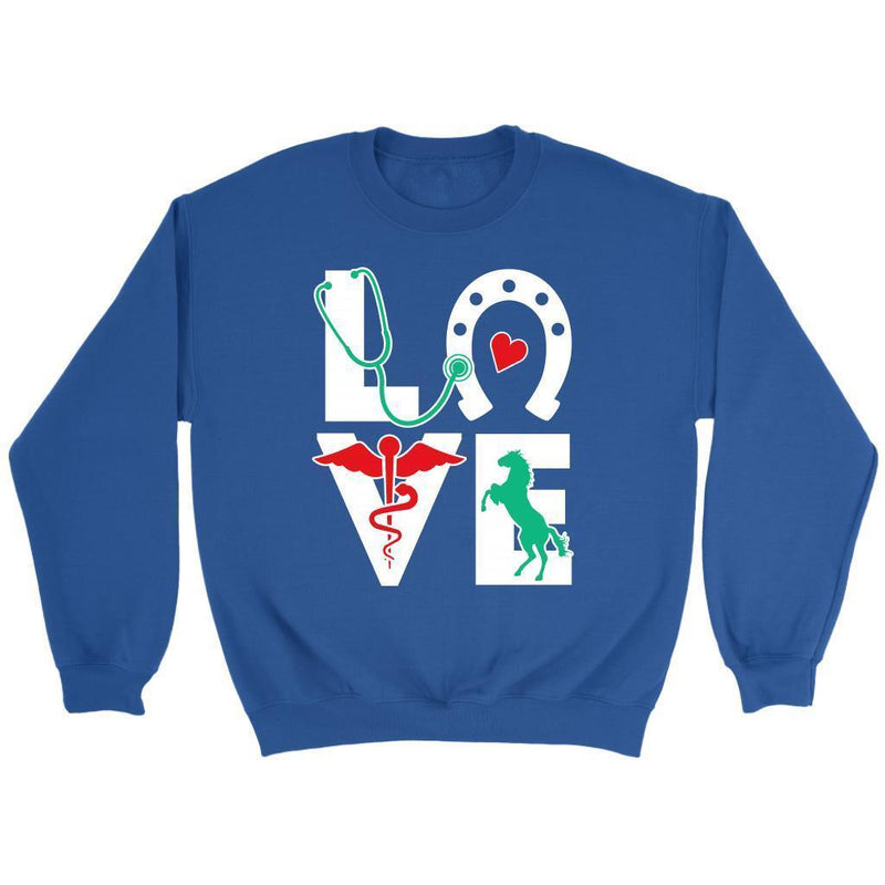 Equine Love - Large Animal Vet - Long Sleeve-Long Sleeve-I love Veterinary