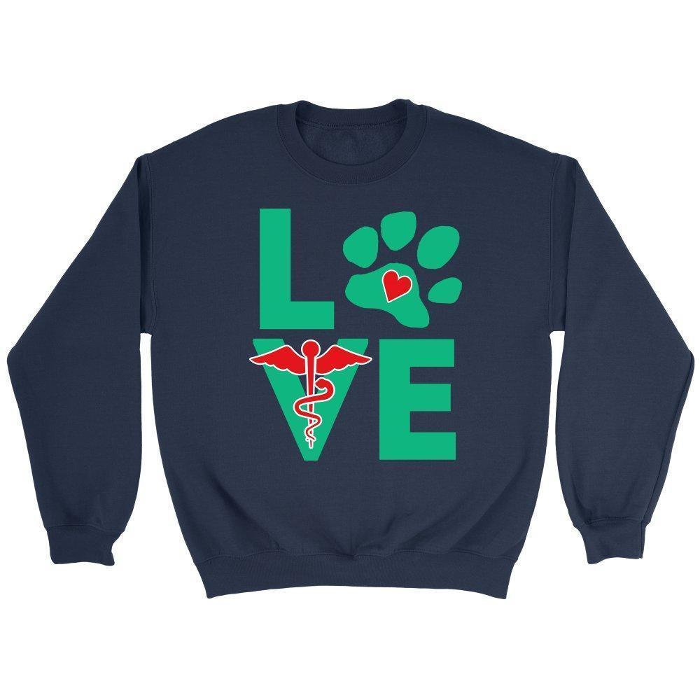 I love veterinary Logo - Veterinary - Long Sleeve-Long Sleeve-I love Veterinary
