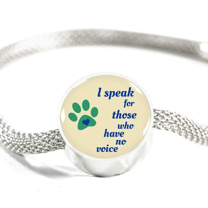 Veterinary Jewelry Gift Circle Charm Luxury Steel Bracelet