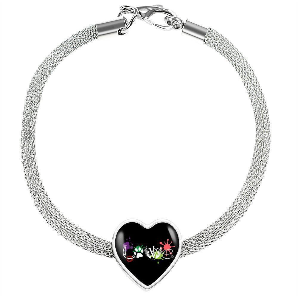 Veterinary Jewelry Gift Heart Charm Luxury Steel Bracelet - LOVE Veterinary Medicine-Luxury Steel Bracelet-I love Veterinary